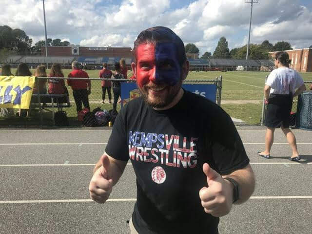 English+teacher+Mr.+Mosley+at+the+2018+Homecoming+Pep+Rally+on+October+15.