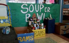 SCA Soup-er Bowl collection boxes on Thursday, January 31, 2019.