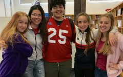 Foreign exchange students at Kempsville High School 2018 through 2019. From left to right, they are: Maria Seppik, from Estonia, Federica Fiorucci, from Italy,  Vadim Tosun, from Germany, Sara Cachinero, from Spain, and Antonia Emmerich, also from Germany.