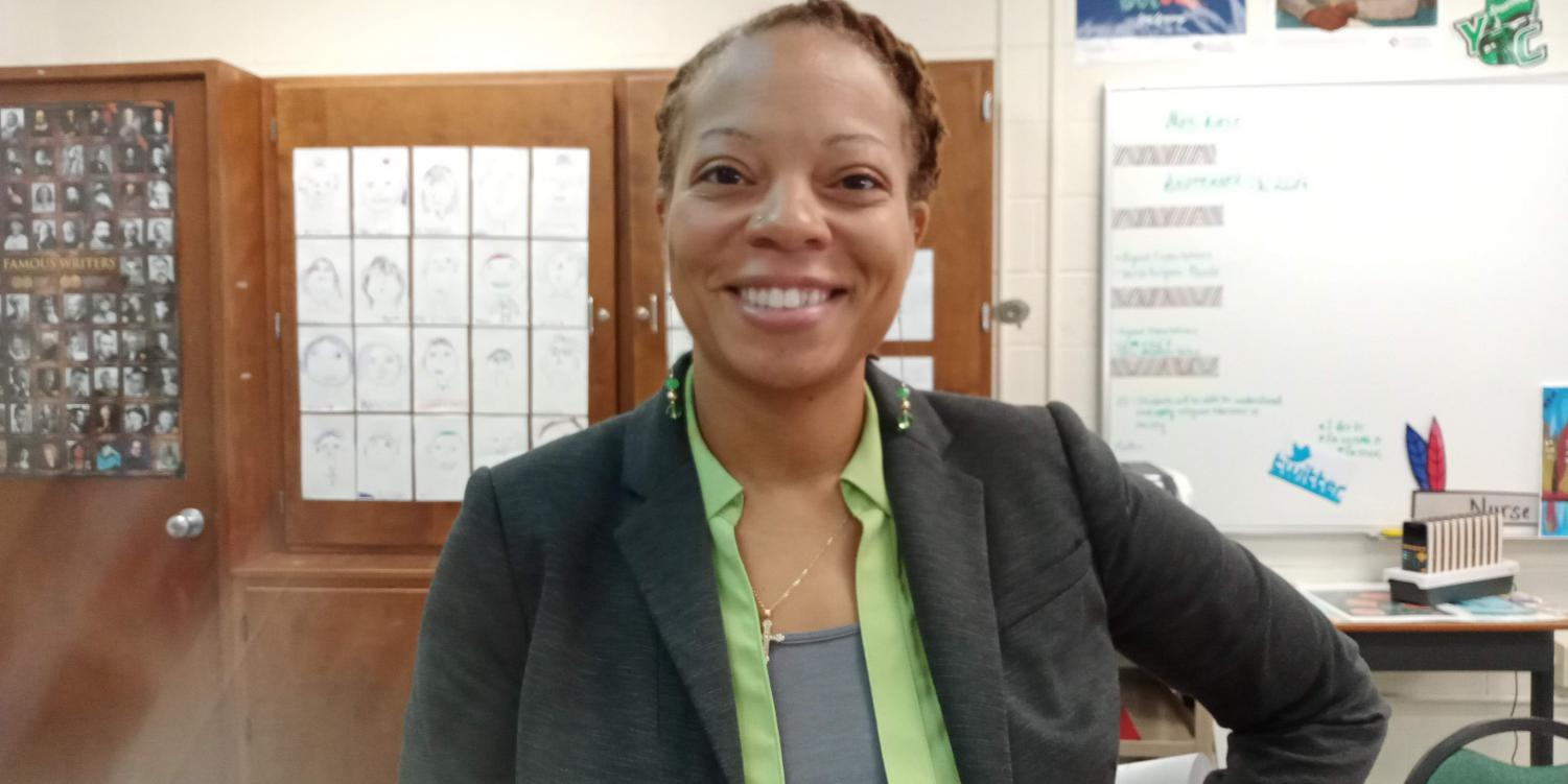 """The step team coach, Mrs. Nurse, speaks about the kinds of students she wants on the step team: """"You must have respect, attitude, discipline, commitment, but most of all you've got to have fun."""""""