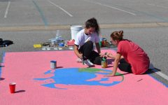 Kempsville Seniors Paint Parking Spots