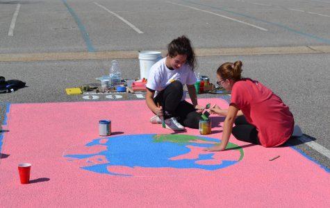 Kempsville Seniors Paint Parking Spots