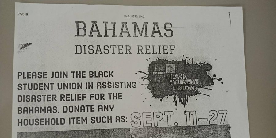 Kempsville's BSU hosts Bahamas Disaster Relief Collection Drive