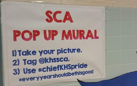 SCA Posts Pop-Up Mural to Promote School Spirit