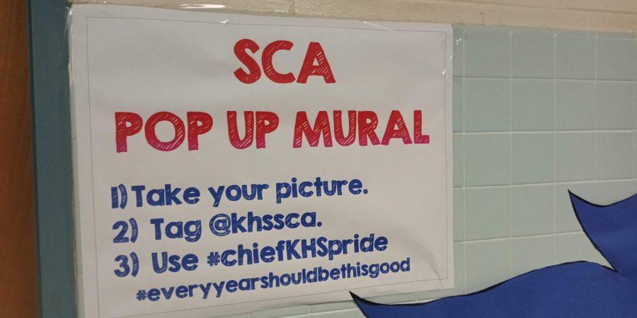 SCA Posts Pop-Up Mural to Promote School Spirit