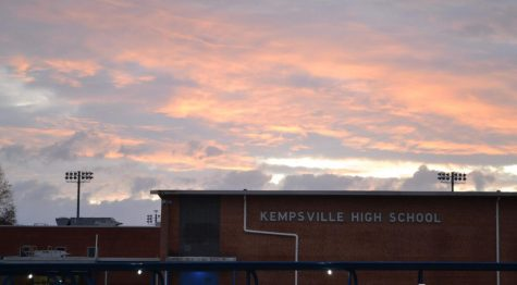 Sunrise at Kempsville High School at 7:05 when the doors open for students.