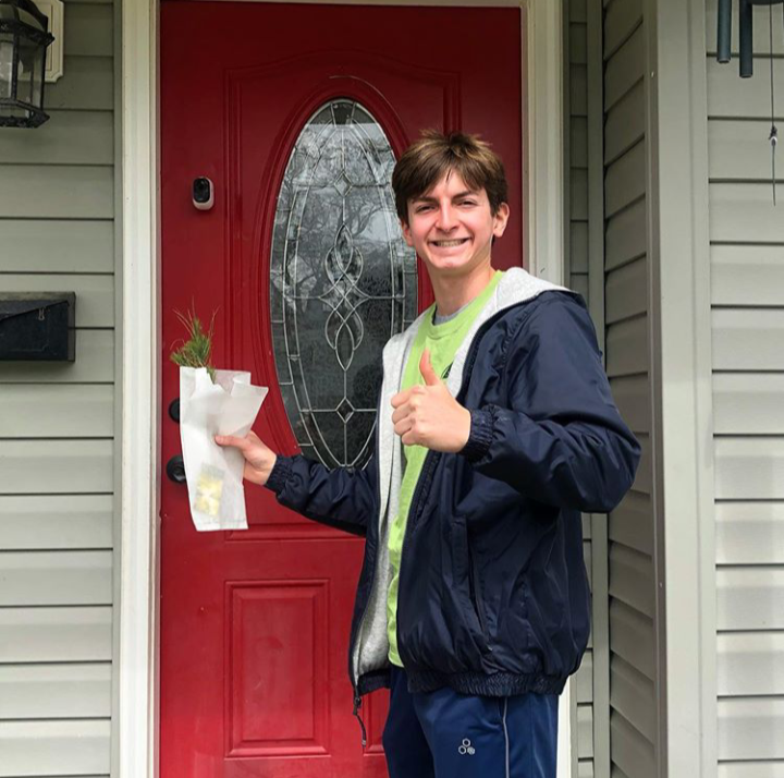 Evan Nied promotes no-contact doorstep seedling drop-offs on the Planting Shade Instagram.