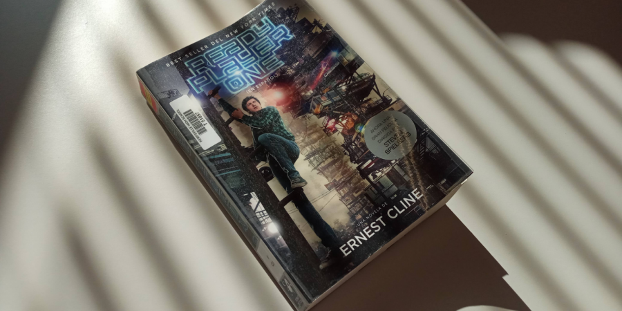 """A Spanish copy of """"Ready Player One"""" by Ernest Cline, available for students to check out. While prior to the 2016-2017 school year there were no Spanish books available to be checked out in Kempsville High Schools library, now there are 75."""