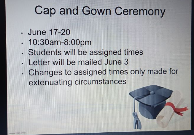 Senior Meeting Details Graduation(s) for the Class of 2020